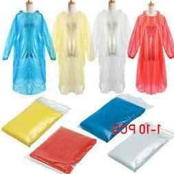 1/5/10PCS Disposable Adult Emergency Waterproof Rain Coat Po