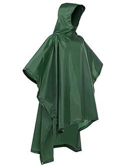 LINENLUX 3 in 1 Multifunctional Outdoor Rain Poncho Waterpro