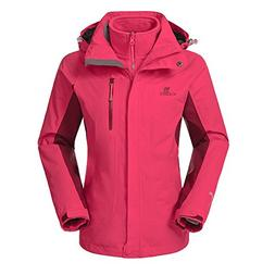 Camel Women's 3-in-1 Systems Jacket Waterproof Color Coral R