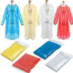 10pcs Disposable Adult Rain Coat Emergency Waterproof Rain C