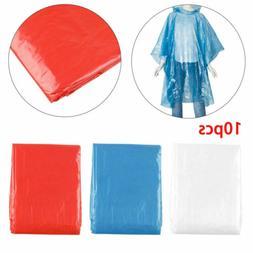 10pcs Waterproof Adult Emergency Disposable Rain Coat Poncho