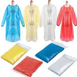 10x Disposable Adult Emergency Waterproof Rain Coat Poncho H