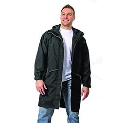 Galeton 12259-XL-BK Repel Rainwear Rain Coat with Reflective