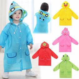 1pcs Cartoon Animal Style Waterproof Kids Raincoat For child