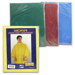 2 Pc Adult Rain Poncho Reusable Rain Hooded Rain Coat Outdoo