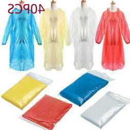 20*Disposable Adult Emergency Waterproof Rain Coat Poncho Hi
