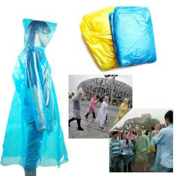 20*Disposable Adult Emergency Waterproof Rain Coat Poncho Hi
