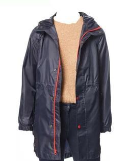$200 Joules Women's Blue Golighty Packable Raincoat Jacket c