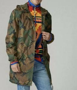 🔥$248 Polo Ralph Lauren Military Marsh Rain Coat Camo Lon