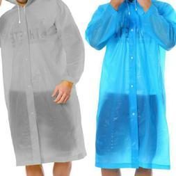 3PCS Men Women's Raincoat Rain Coat Hooded Waterproof Jacket