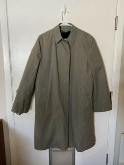 Vintage 40L Manstyle Men's Trench Rain Coat Hounds tooth 60'