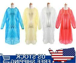 10x RAIN COAT Disposable PONCHO Adult Emergency Hiking Campi