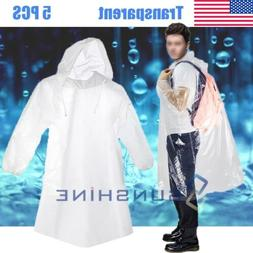 5X Unisex Raincoats Disposable Adult Emergency Rain Coat Pon