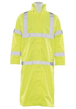 ERB 62033 S163 Class 3 Long Rain Coat Safety Vest, Hi-Viz Li