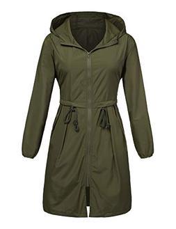 ANGVNS Women's Lightweight Waterproof Outdoor Jacket Loose L