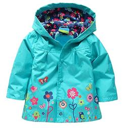 Arshiner Girl Baby Kid Waterproof Hooded Coat Jacket Outwear