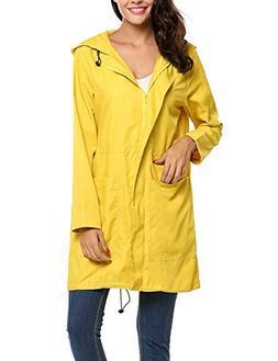 unibelle Women Lightweight Windbreaker Waterproof Long Rainc