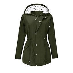 BBX Lephsnt Rain Jacket Active Lightweight Hooded Polka Dot
