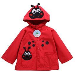 Baby Girls Boys Waterproof Raincoat Windbreaker Hooded Bombe
