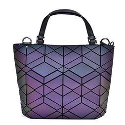Bag Women's Geometry Lattic Totes Bag Handbag Plain Folding