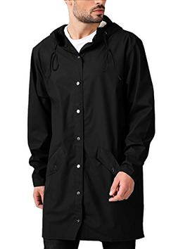 JINIDU Men's Lightweight Waterproof Rain Jacket Packable Out