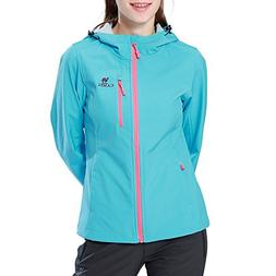 Camel Full Zip Windproof Jacket for Women Lightweight Windbr