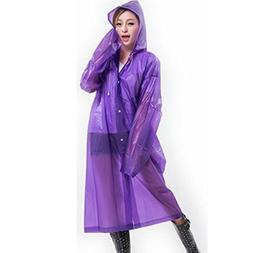 Caszel Portable Reusable Raincoat Rain Poncho with Hoods Sle