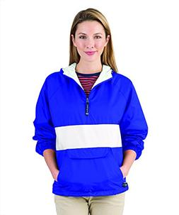 Charles River Apparel Womens Front Pocket Striped Pullover -