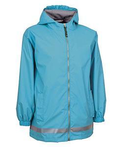 Charles River Apparel Youth New Englander Rain Jacket - AQUA