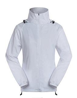 Cheering Women's Lightweight Jackets for Women Waterproof Wi