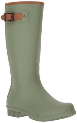 Chooka Women's Tall Memory Foam Rain Boot, Dark Sage, 8 M US