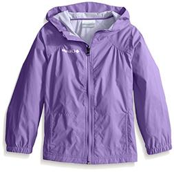 Columbia Little Girl's Switchback Rain Jacket, Grape Gum, S