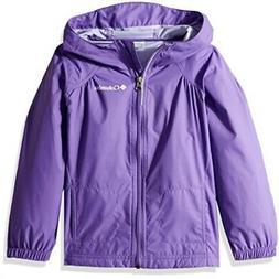 Columbia Little Girls' Switchback Rain Jacket, Grape Gum, 3T