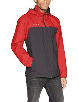Columbia Men's Glennaker Lake Lined Rain Jacket, Shark, Red