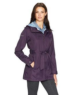 Columbia Women's Pardon My Trench Rain Jacket, Dark Plum, L