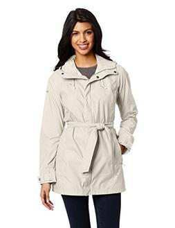 Columbia Women's Pardon My Trench Rain Jacket, Flint Grey, S