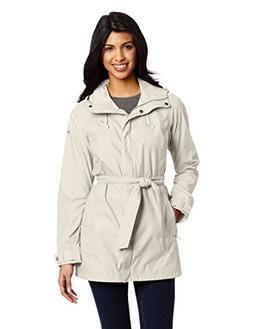 Columbia Women's Pardon My Trench Rain Jacket, Flint Grey, S
