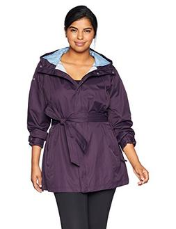 Columbia Women's Plus Size Pardon My Trench Rain Jacket, Dar