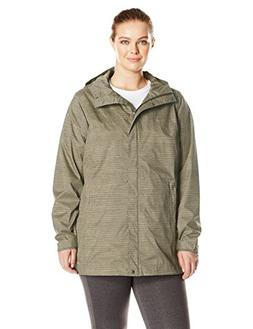 Columbia Women's Plus Size Splash A Little Rain Jacket, Grav