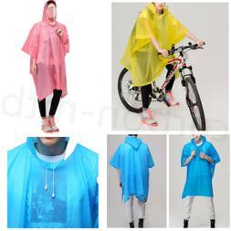Cycling Bicycle Raincoat Men Womens Bike Waterproof Coat Cap