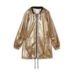 Daxvens Women Waterproof Raincoat Hood - Military Light Rain