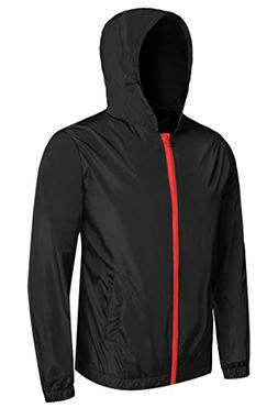 Detailorpin Men's Waterproof Rain Jacket Lightweight Hooded