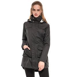 Diamond Candy Women's Waterproof Lightweight Raincoat - Hood