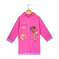 Disney Doc McStuffins Girls Pink Rain Slicker Raincoat - Siz