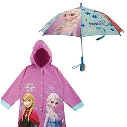Disney Girls' Little Frozen Princess Elsa and Rain Slicker a