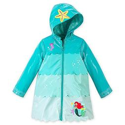 Disney Store Deluxe Ariel The Little Mermaid Rain Jacket Siz