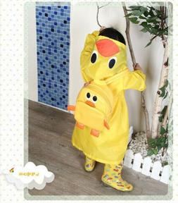 FAD Cartoon Baby Kids Toddler Boy Girl Hooded Rain Coat Rain