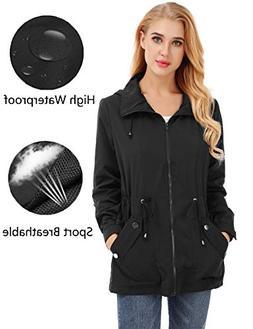 FISOUL Raincoats Women's Waterproof Lightweight Rain Jacket