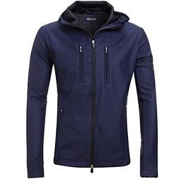 FLY HAWK Mens Lightweight Short Waterproof Raincoat Outdoor