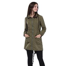 Fancyqube Women's Lightweight Waterproof Raincoat Hoodie Act